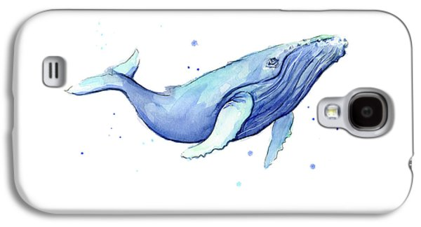Whale Watercolor Humpback Galaxy S4 Case by Olga Shvartsur