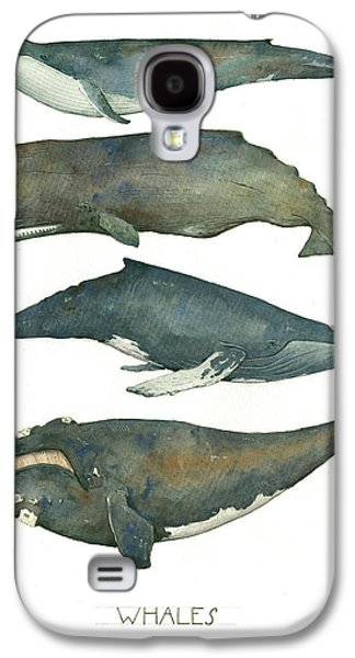 Whale Galaxy S4 Case - Whales Poster by Juan Bosco