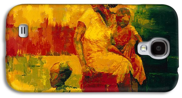 African Paintings Galaxy S4 Cases - What is it Ma Galaxy S4 Case by Bayo Iribhogbe