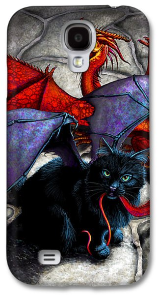 Dragon Galaxy S4 Case - What The Catabat Dragged In by Stanley Morrison
