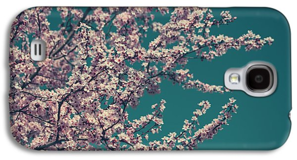 Cherry Blossoms Galaxy S4 Cases - What This New Life Will Bring Galaxy S4 Case by Laurie Search