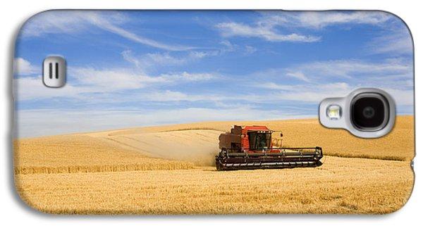 Rural Scenes Galaxy S4 Case - Wheat Harvest by Mike  Dawson