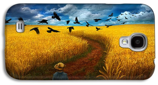 Wheatfield With Crows Galaxy S4 Case