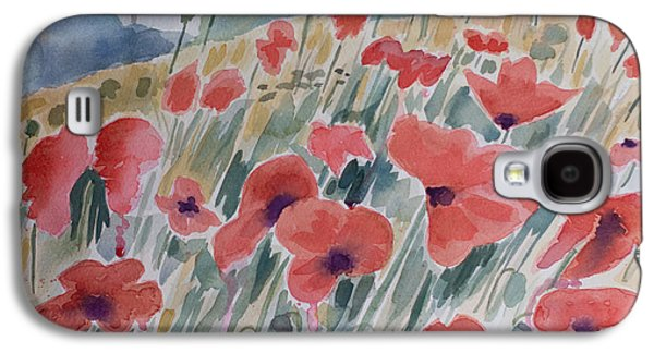 Where Poppies Grow Galaxy S4 Case by Barbara McMahon