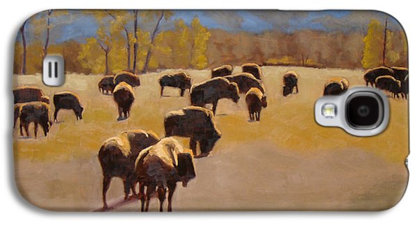 Where The Buffalo Roam Galaxy S4 Case by Tate Hamilton