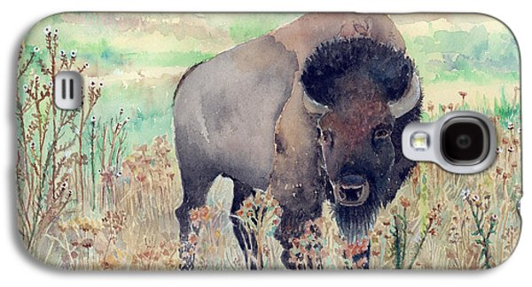 Where The Buffalo Roams Galaxy S4 Case by Arline Wagner