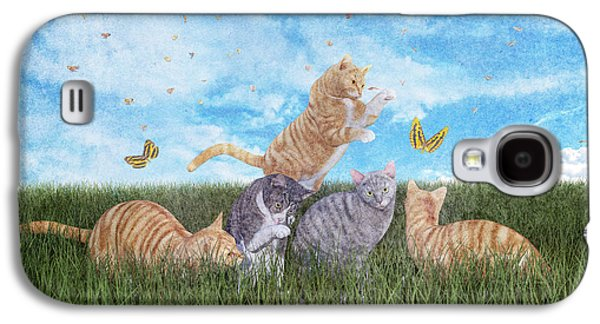 Whimsical Cats Galaxy S4 Case