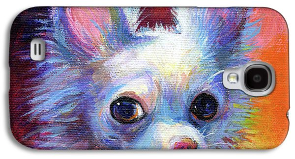 Whimsical Chihuahua Dog Painting Galaxy S4 Case by Svetlana Novikova