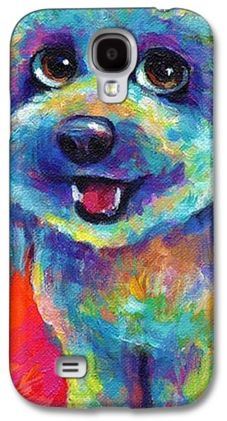 Whimsical Labradoodle Painting By Galaxy S4 Case
