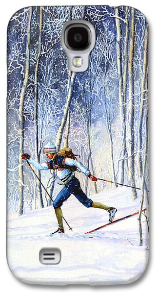 Skiing Posters Paintings Galaxy S4 Cases - Whispering Tracks Galaxy S4 Case by Hanne Lore Koehler