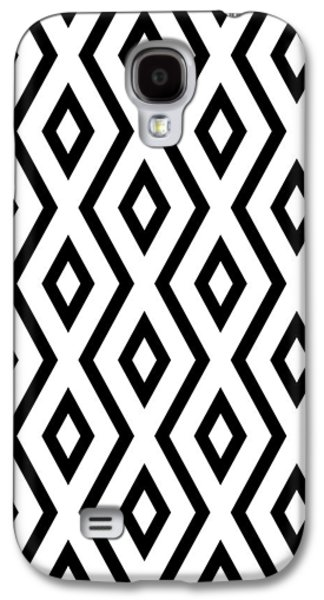 White And Black Pattern Galaxy S4 Case by Christina Rollo