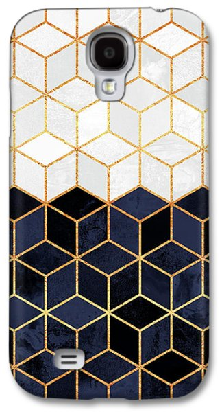 White And Navy Cubes Galaxy S4 Case