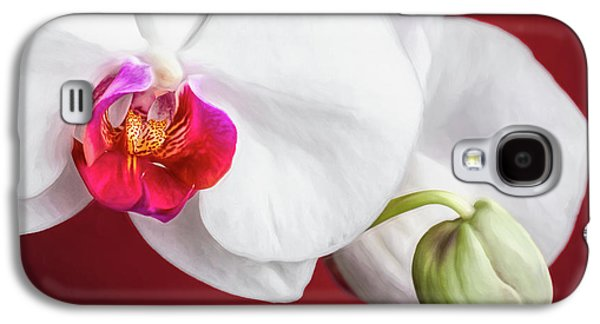 Orchid Galaxy S4 Case - White And Red Orchids by Tom Mc Nemar