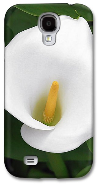 White Calla Lily Galaxy S4 Case by Christine Till