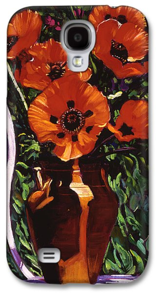 White Chair, Red Poppies Galaxy S4 Case by David Lloyd Glover