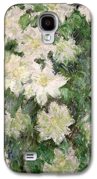 White Clematis Galaxy S4 Case by Claude Monet