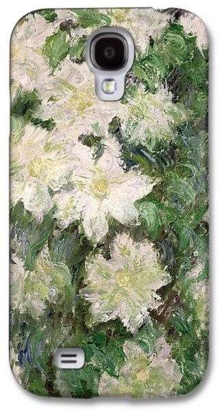 White Clematis Galaxy S4 Case