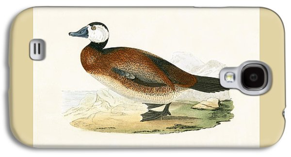 White Headed Duck Galaxy S4 Case by English School