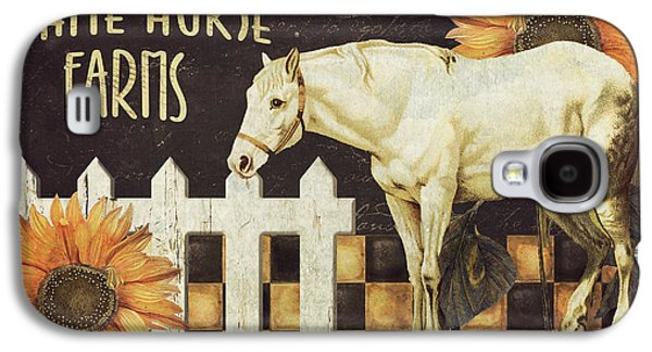 White Horse Farms Vermont Galaxy S4 Case by Mindy Sommers