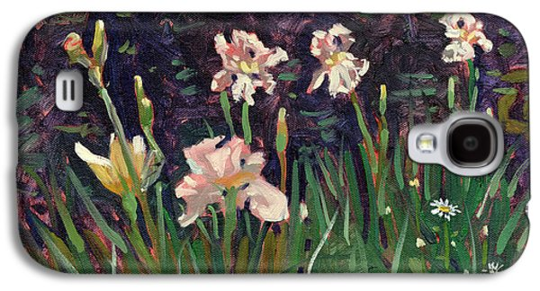 White Irises Galaxy S4 Case by Donald Maier