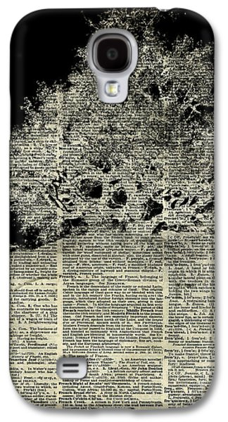 White Lonley Tree Dictionary Art Galaxy S4 Case by Jacob Kuch