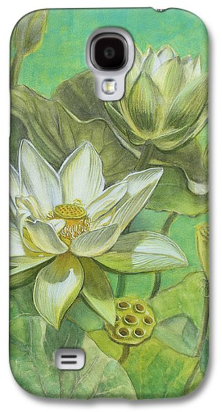 White Lotuses In Turquoise Lake Galaxy S4 Case