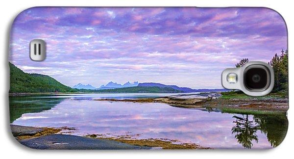 White Night In Nordkilpollen Cove Galaxy S4 Case