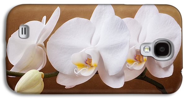White Orchid Flowers And Bud Galaxy S4 Case by Tom Mc Nemar