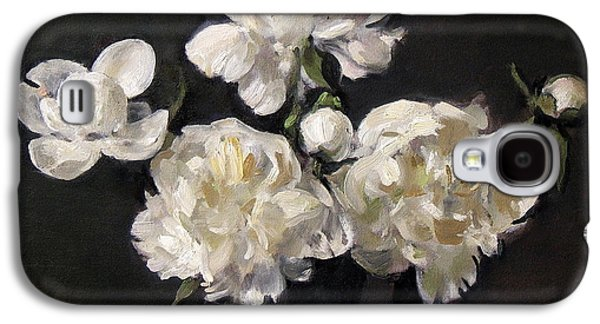 White Peonies Alone Galaxy S4 Case