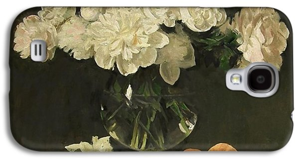 White Peonies In Giant Snifter With Peaches Galaxy S4 Case
