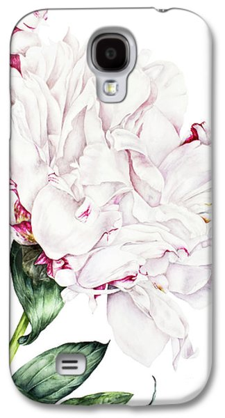 White Peony Galaxy S4 Case