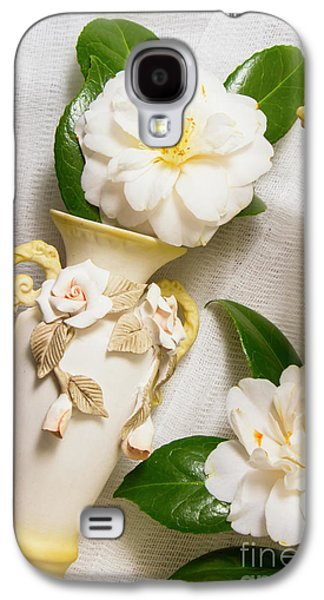 White Rhododendron Funeral Flowers Galaxy S4 Case by Jorgo Photography - Wall Art Gallery