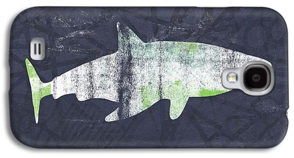 Sharks Galaxy S4 Case - White Shark- Art By Linda Woods by Linda Woods