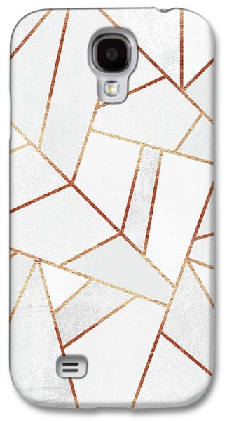 White Stone And Copper Lines Galaxy S4 Case
