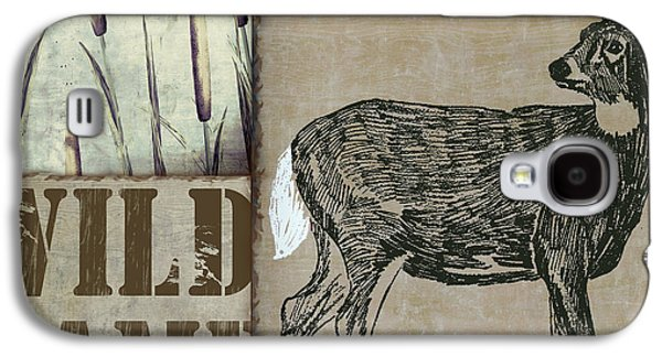 White Tail Deer Wild Game Rustic Cabin Galaxy S4 Case by Mindy Sommers