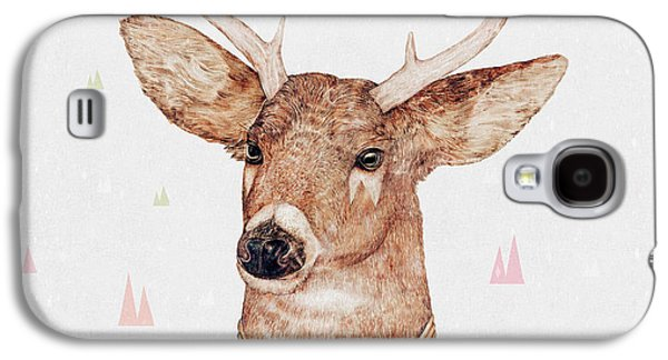 White Tailed Deer Square Galaxy S4 Case by Animal Crew