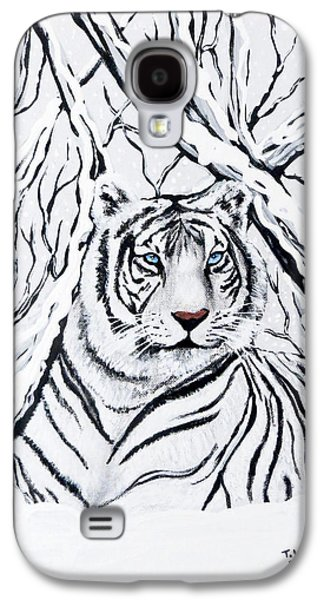 White Tiger Blending In Galaxy S4 Case