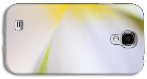 White Tulip Detail Galaxy S4 Case by Silke Magino