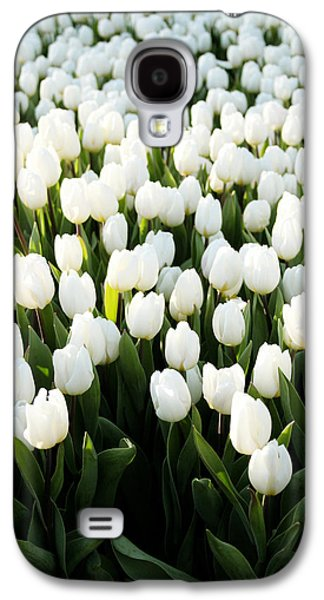 White Tulips In The Garden Galaxy S4 Case by Linda Woods