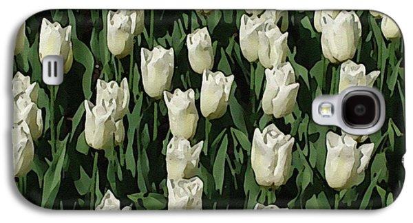 White Tulips Galaxy S4 Case by Ralph Klein