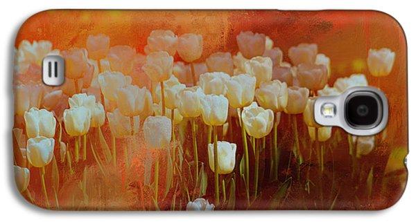 White Tulips Galaxy S4 Case