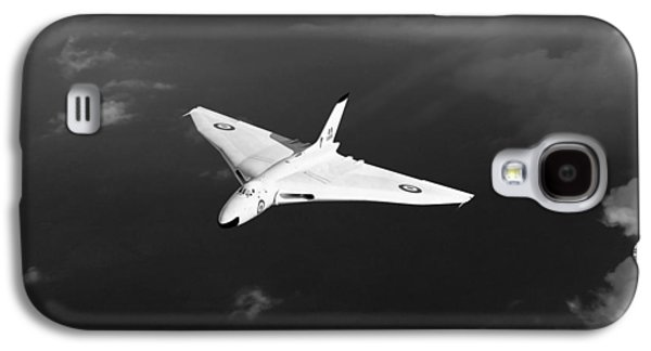 Galaxy S4 Case featuring the digital art White Vulcan B1 At Altitude Black And White Version by Gary Eason