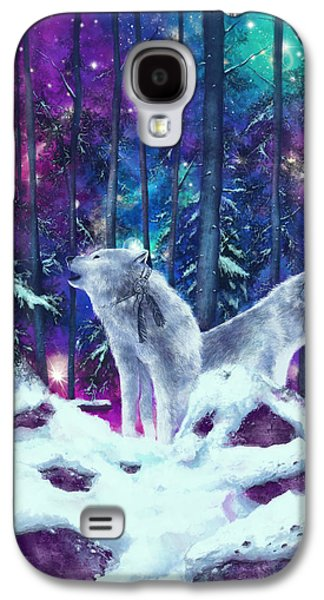 White Wolves Galaxy S4 Case