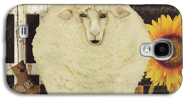 White Wool Farms Galaxy S4 Case by Mindy Sommers