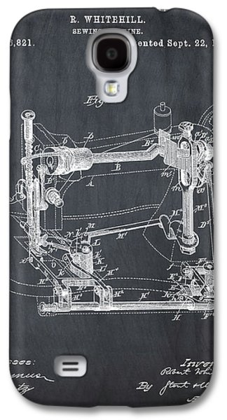 Whitehill Sewing Machine Patent 1885 Chalk Galaxy S4 Case by Bill Cannon