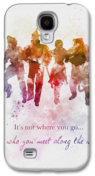 Who You Meet Along The Way Galaxy S4 Case by Rebecca Jenkins