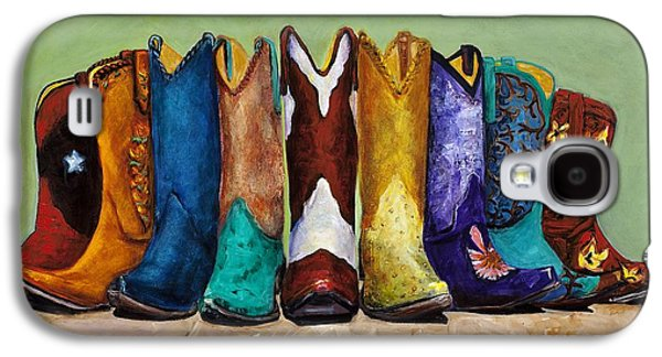 Worn Galaxy S4 Cases - Why Real Men Want to be Cowboys Galaxy S4 Case by Frances Marino