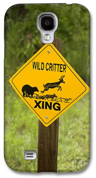 Wild Critter Crossing Sign Galaxy S4 Case