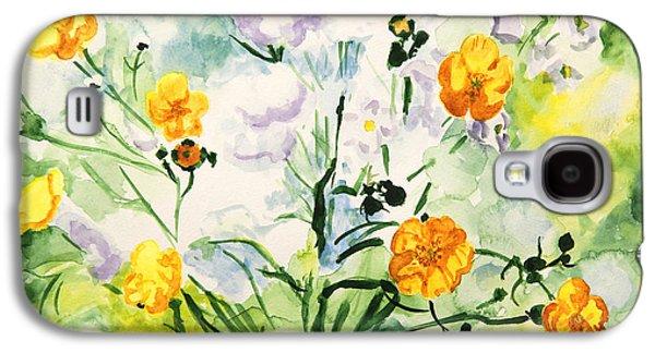 Wild Flowers Galaxy S4 Case by Masha Batkova