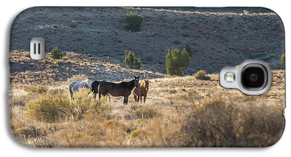 Wild Horses In Monument Valley Galaxy S4 Case